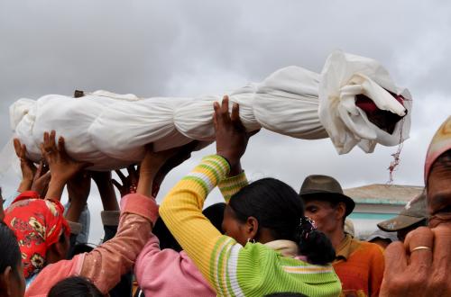 Famadihana reburial ceremony, Madagascar