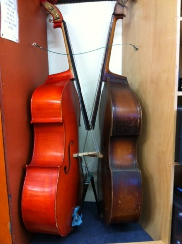 2 Double bass in a locker