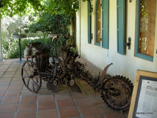 A salvage art trike at Fairview Estates