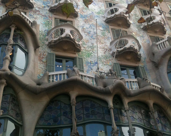 Casa Battlo in Barcelona by Antonio Gaudi