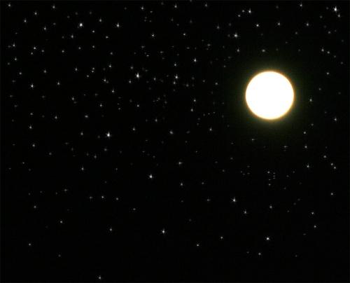 moon, stars, night sky
