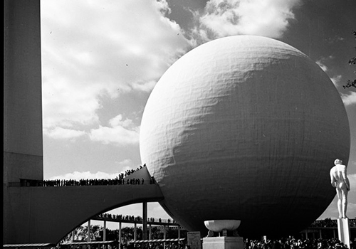 the perisphere at the 1939 world's fair